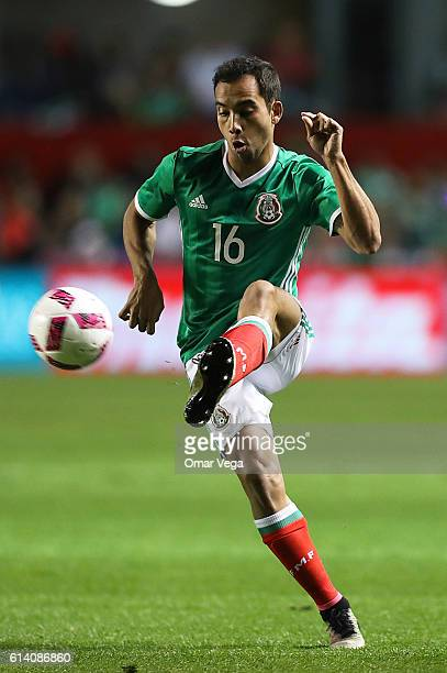 Adrian Aldrete of Mexico controls the ball during the International Friendly Match between Mexico and Panama at Toyota Park on October 11 2016 in...
