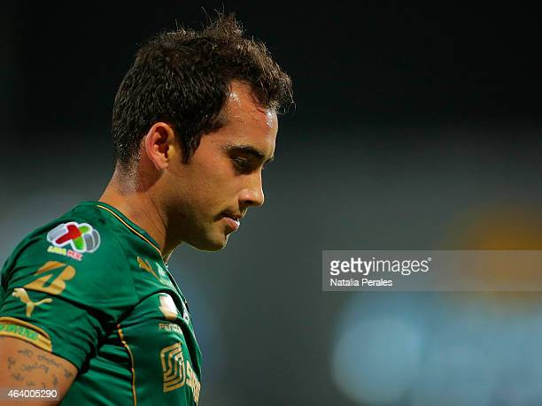 Adrian Aldrete takes a breath during a match between Santos Laguna and Atlas as part of 7th round Clausura 2015 Liga MX at Corona Stadium on February...