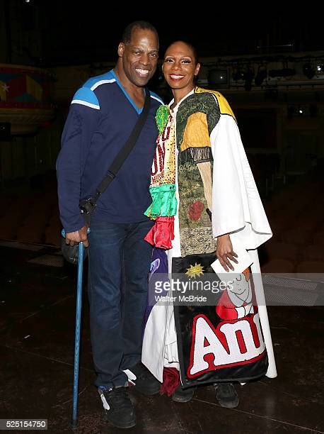 Adrian Bailey Stephanie Pope attending the Broadway Opening Night Gypsy Robe Ceremony honoring Stephanie Pope for 'Pippin' at the Music Box Theatre...