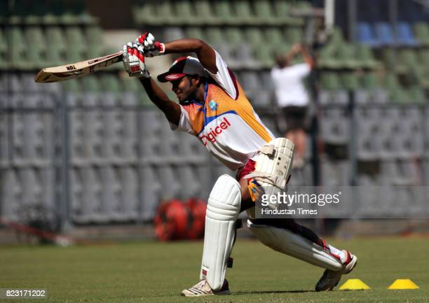 Adrian Barath of West Indies Team practice's at Wankhede Stadium in Mumbai on Sunday