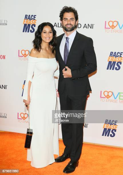 Adrian Bellani and Emmanuelle Chriqui attend the 24th Annual Race To Erase MS Gala on May 05 2017 in Beverly Hills California