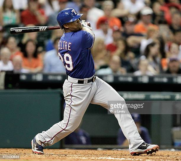 Adrian Beltre of the Texas Rangers against the Houston Astros at Minute Maid Park on May 6 2015 in Houston Texas