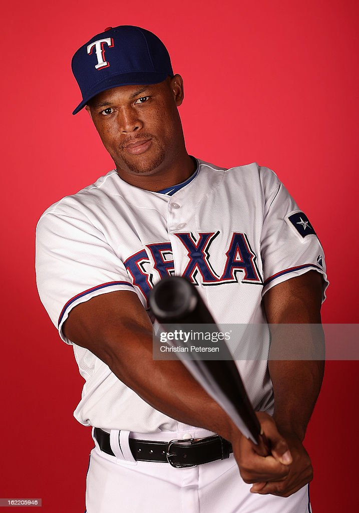 Adrian Beltre #29 of the Texas Rangers poses for a portrait during spring training photo day at Surprise Stadium on February 20, 2013 in Surprise, Arizona.