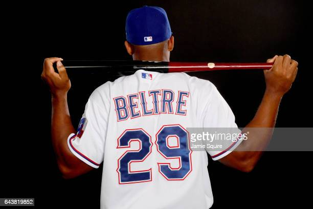 Adrian Beltre of the Texas Rangers poses on Texas Rangers Photo Day during Spring Training on February 22 2017 in Surprise Arizona