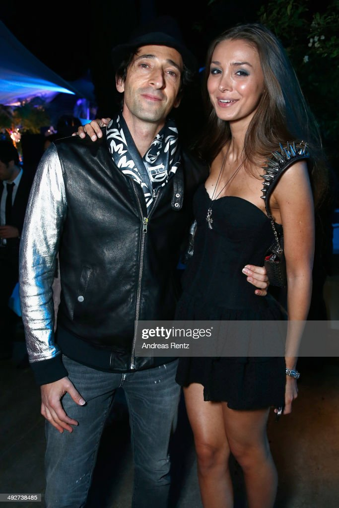 Adrian Brody and Lara Leito attend the Puerto Azul Experience at the 67th Annual Cannes Film Festival on May 21, 2014 in Cannes, France.