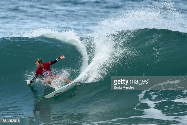 Adrian Buchan of Australia surfs during the quarterfinals of the Oi Rio Pro 2017 at Itauna Beach on May 17 2017 in Saquarema Brazil