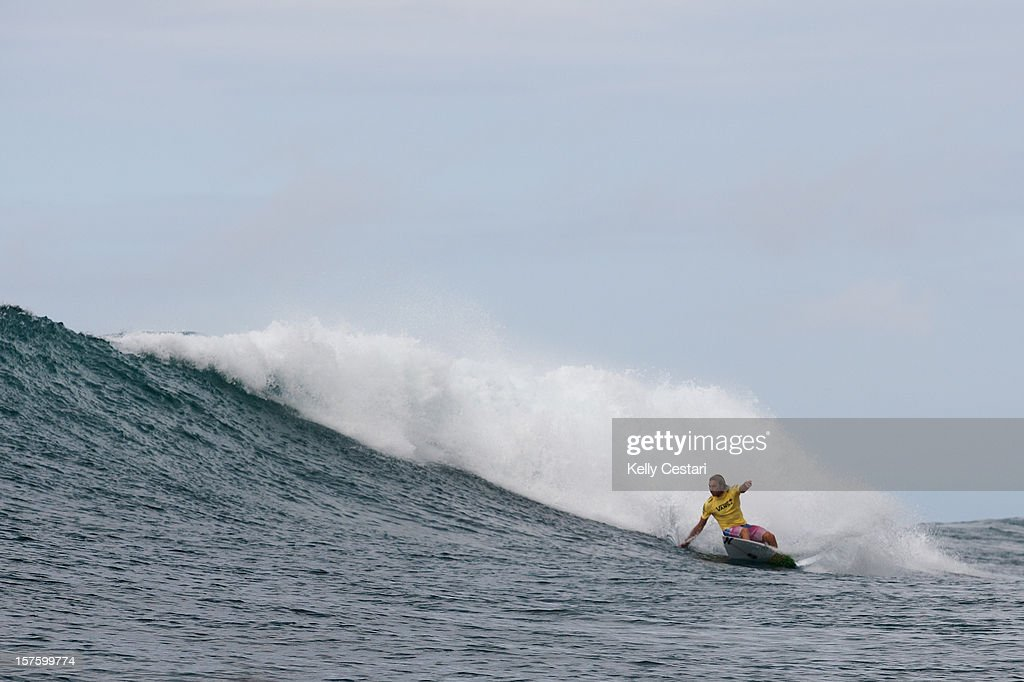 Adrian Buchan of Australia surfs in the final of the Vans World Cup of Surfing at Sunset Beach on December 4, 2012 in North Shore, Hawaii. Buchan placed fourth.