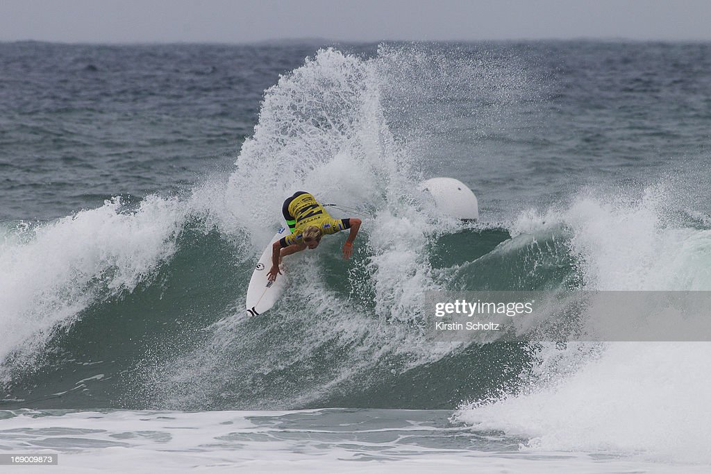 Adrian Buchan of Australia surfs into the quarterfinals during the Billabong Rio Pro on May 18, 2013 in Rio de Janeiro, Brazil.