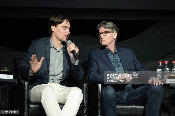 Adrian Buitenhuis and Derik Murray attend the 'I Am Heath Ledger' premiere during the 2017 Tribeca Film Festival at Spring Studios on April 23 2017...