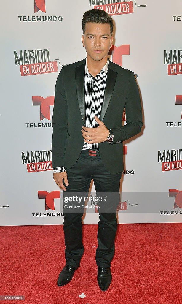 Adrian Carvajal attends Telemundos 'Marido en Alquiler' Presentation on July 10, 2013 in Miami, Florida.