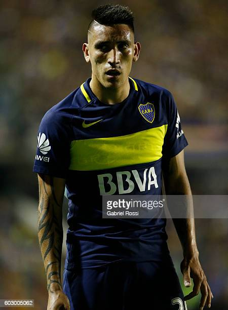 Adrian Centurion of Boca Juniors looks on during a match between Boca Juniors and Belgrano as part of second round of Campeonato de Primera Division...