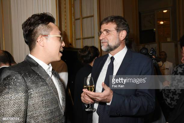 Adrian Cheng executive director of Chow Tai Fook Jewellery and TV presenter/ journalist Ulysse Gosset attend the Chow Tai Fook Jewellry Show Hosted...