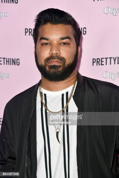 Adrian Dev attends PrettyLittleThing X Olivia Culpo Launch at Liaison Lounge on August 17 2017 in Los Angeles California