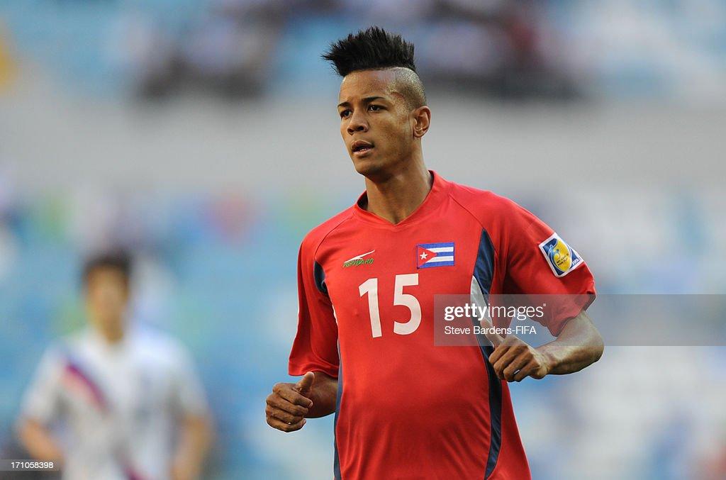Adrian Diz of Cuba during the FIFA U-20 World Cup Group B match between Cuba and Korea Republic at Kadir Has Stadium on June 21, 2013 in Kayseri, Turkey.