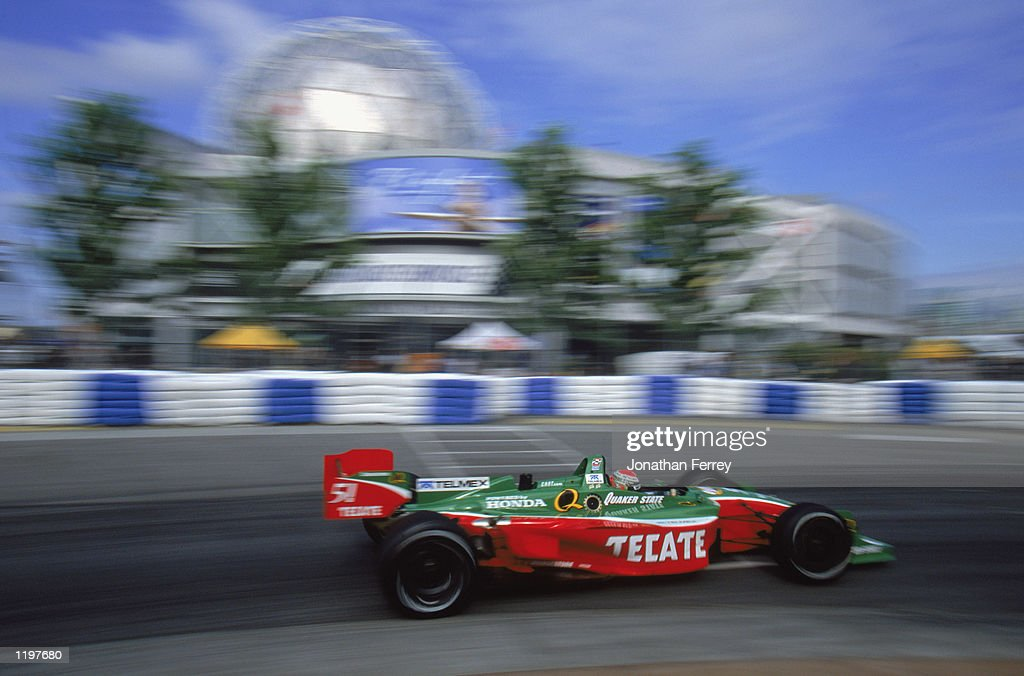 Adrian Fernandez #51 drives his Fernandez Racing Honda Lola during the Molson Indy Vancouver, round 10 of the CART FedEx Championship Series on July 28, 2002 at the Concord Pacific Place in Vancouver, Canada.