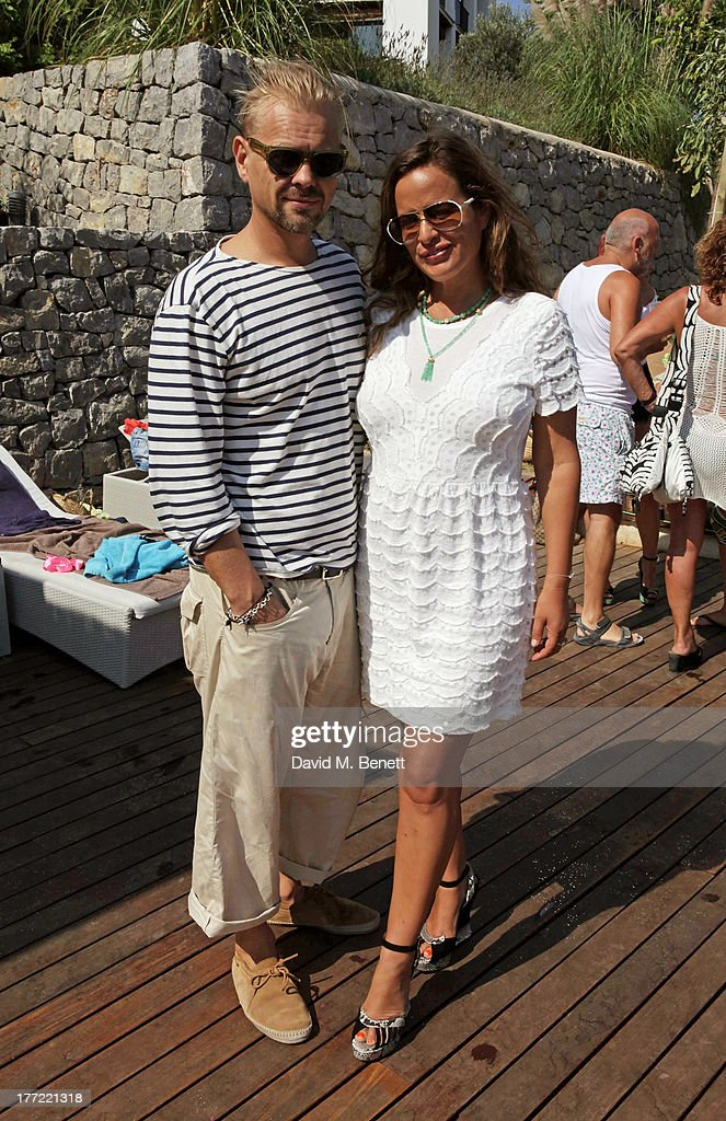 Adrian Fillary and Jade Jagger attend the Ibiza Summer Party at Can Batista on August 22 2013 in Ibiza Spain