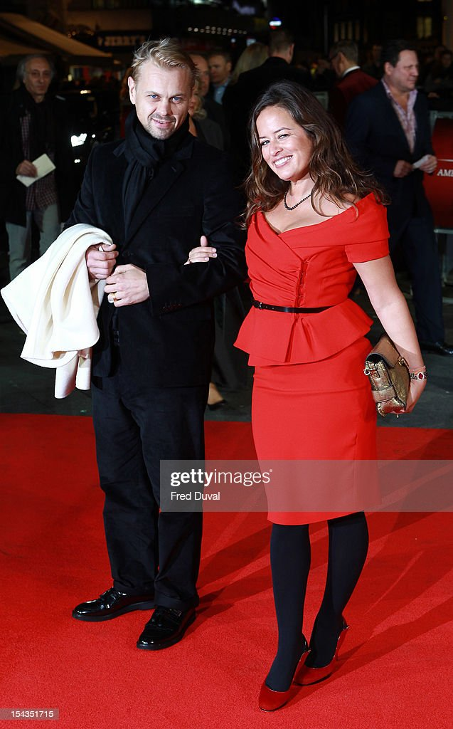 Adrian Fillary and Jade Jagger attends the Premiere of 'Crossfire Hurricane' during the 56th BFI London Film Festival at Odeon Leicester Square on October 18, 2012 in London, England.