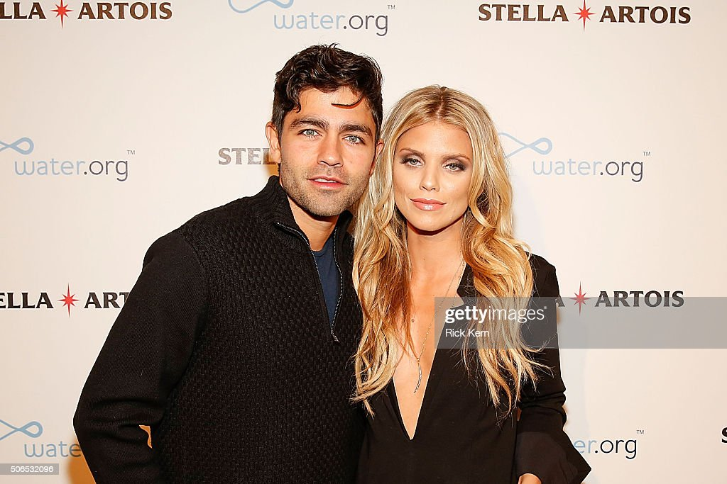 Adrian Grenier and AnnaLynne McCord attend the 'Trash Fire' Cocktail Party in the Stella Artois Filmmaker Lounge during the 2016 Sundance Film...