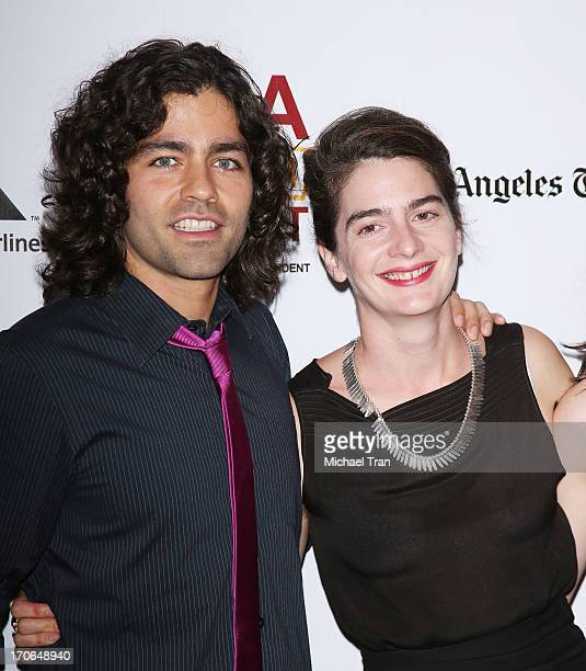 Adrian Grenier and Gaby Hoffmann arrive at the 2013 Los Angeles Film Festival 'Goodbye World' premiere held at Regal Cinemas LA LIVE Stadium 14 on...