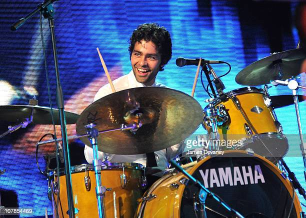 Adrian Grenier and his band The Honey Brothers perform at the Orange Drive South Beach New Year's Festival on January 2 2011 in Miami Beach Florida