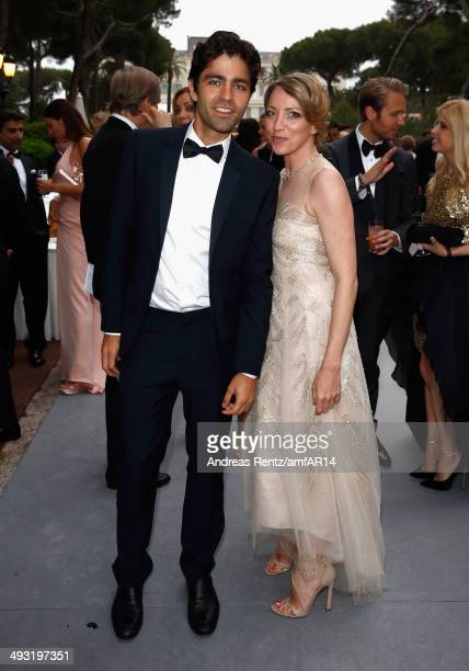 Adrian Grenier and Sanny van Heteren attend amfAR's 21st Cinema Against AIDS Gala Presented By WORLDVIEW BOLD FILMS And BVLGARI at Hotel du...
