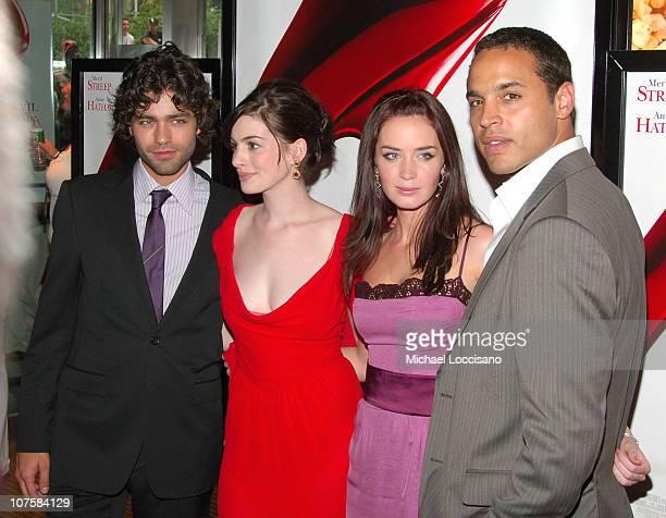 Adrian Grenier Anne Hathaway Emily Blunt and Daniel Sunjata