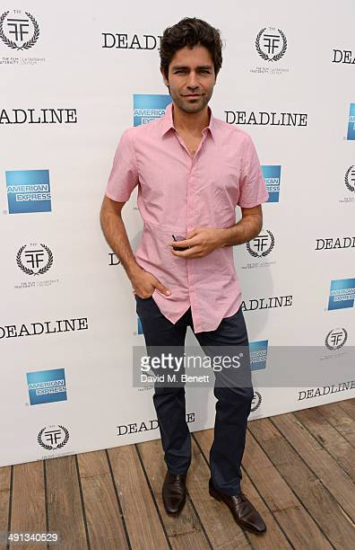 Adrian Grenier attends Deadline's Cocktails on the Croisette in partnership with American Express and Film Fraternity at La Gold Plage on May 16 2014...