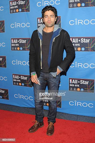 Adrian Grenier attends State Farm AllStar Saturday Night NBA AllStar Weekend 2015 at Barclays Center on February 14 2015 in New York New York