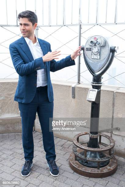 Adrian Grenier attends the lightining of the Empire State Building in commemoration of World Environment Day at The Empire State Building on June 5...