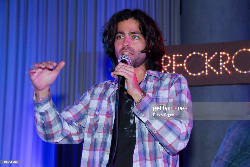 <a gi-track='captionPersonalityLinkClicked' href=/galleries/search?phrase=Adrian+Grenier&family=editorial&specificpeople=211413 ng-click='$event.stopPropagation()'>Adrian Grenier</a> attends the Oakley and Wreckroom musical presentation at The W hotel on March 15, 2013 in Austin, Texas.