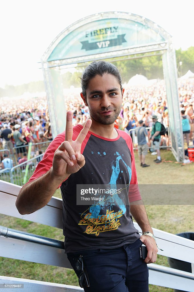 Adrian Grenier hangs out at the VIP Loft at the Firefly Music Festival at The Woodlands of Dover International Speedway on June 22, 2013 in Dover, Delaware.