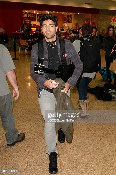 Adrian Grenier is seen at Salt Lake City Airport on January 22 2015 in Park City Utah