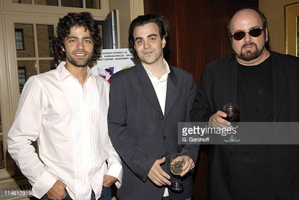 Adrian Grenier Nicholas Jarecki and James Toback during Special Screening and Celebration of Nicholas Jarecki's 'The Outsider' at Gramercy Park home...