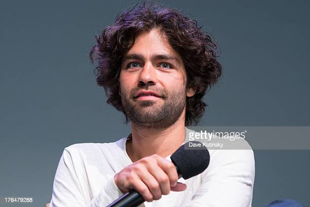 Adrian Grenier speaks at the Meet the App Developers Adrian Grenier and Peter Glatzer event at Apple Store Soho on August 13 2013 in New York City