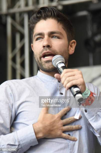 Adrian Grenier speaks during the Rachael Ray Feedback party at Stubb's BarBQue during the 2017 SXSW Conference And Festivals on March 18 2017 in...