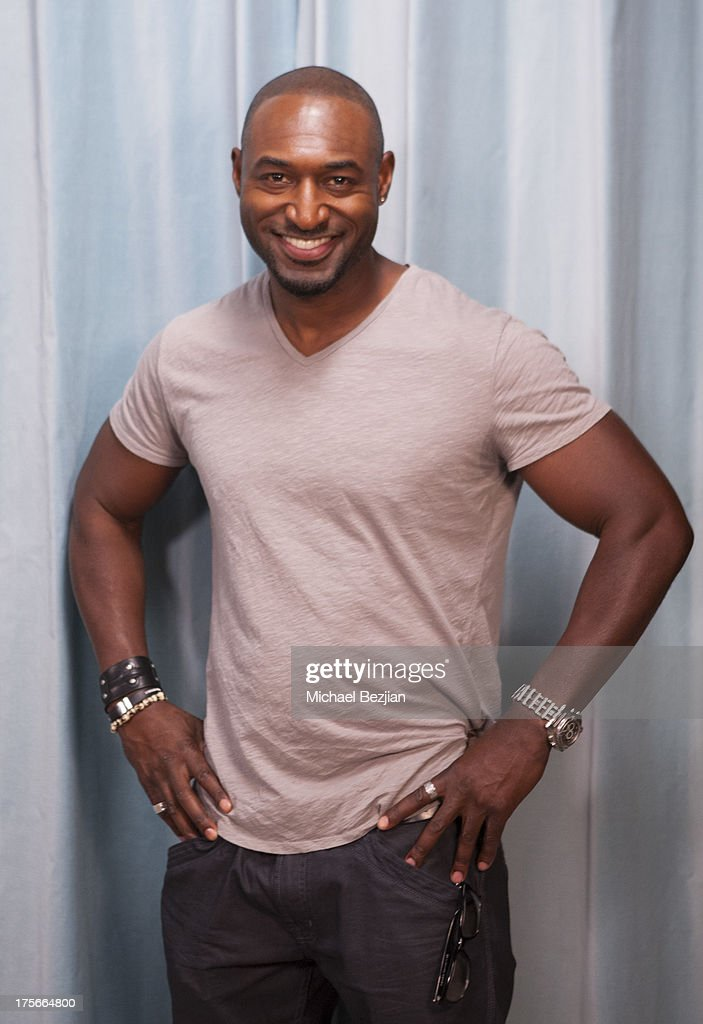 Adrian Holmes visits Diana Madison's 'AOL LOWDOWN' on August 5, 2013 in Hollywood, California.