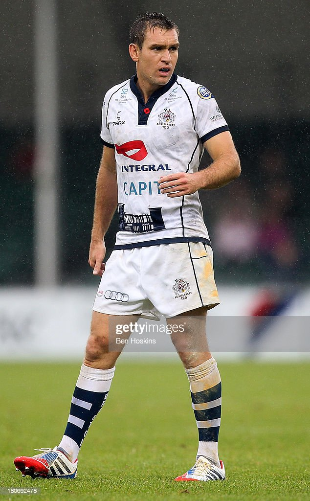 Adrian Jarvis of Bristol in action during the Greene King IPA Championship match between the Cornish Pirates and Bristol Rugby at Sandy Park on...