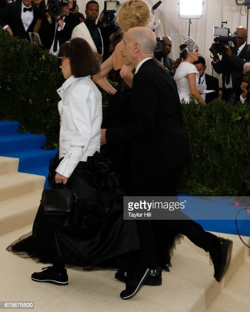 Adrian Joffe and Rei Kawakubo attend 'Rei Kawakubo/Commes Des Garcons Art of the InBetween' at Metropolitan Museum of Art on May 1 2017 in New York...