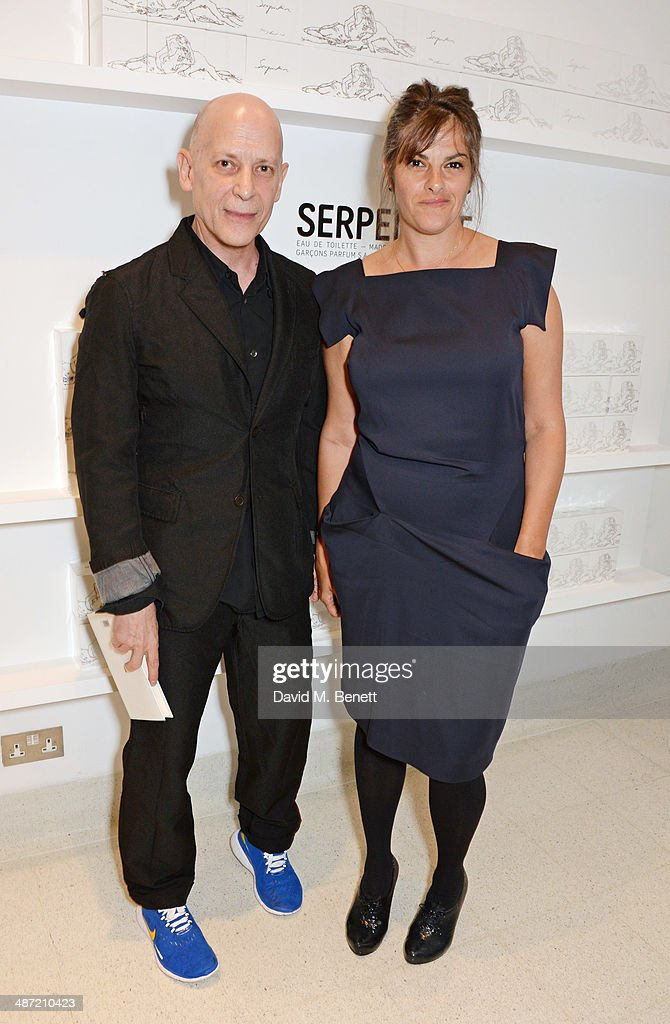 Adrian Joffe (L) and <a gi-track='captionPersonalityLinkClicked' href=/galleries/search?phrase=Tracey+Emin&family=editorial&specificpeople=203219 ng-click='$event.stopPropagation()'>Tracey Emin</a> attend the launch of 'Serpentine', a new fragrance by The Serpentine Gallery and fashion house Comme des Garcons featuring packaging artwork by <a gi-track='captionPersonalityLinkClicked' href=/galleries/search?phrase=Tracey+Emin&family=editorial&specificpeople=203219 ng-click='$event.stopPropagation()'>Tracey Emin</a>, at The Serpentine Gallery on April 28, 2014 in London, England.