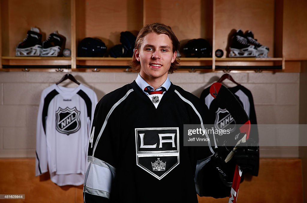 Adrian Kempe, 29th overall pick of the Los Angeles Kings, poses for a portrait during the 2014 NHL Entry Draft at Wells Fargo Center on June 27, 2014 in Philadelphia, Pennsylvania.
