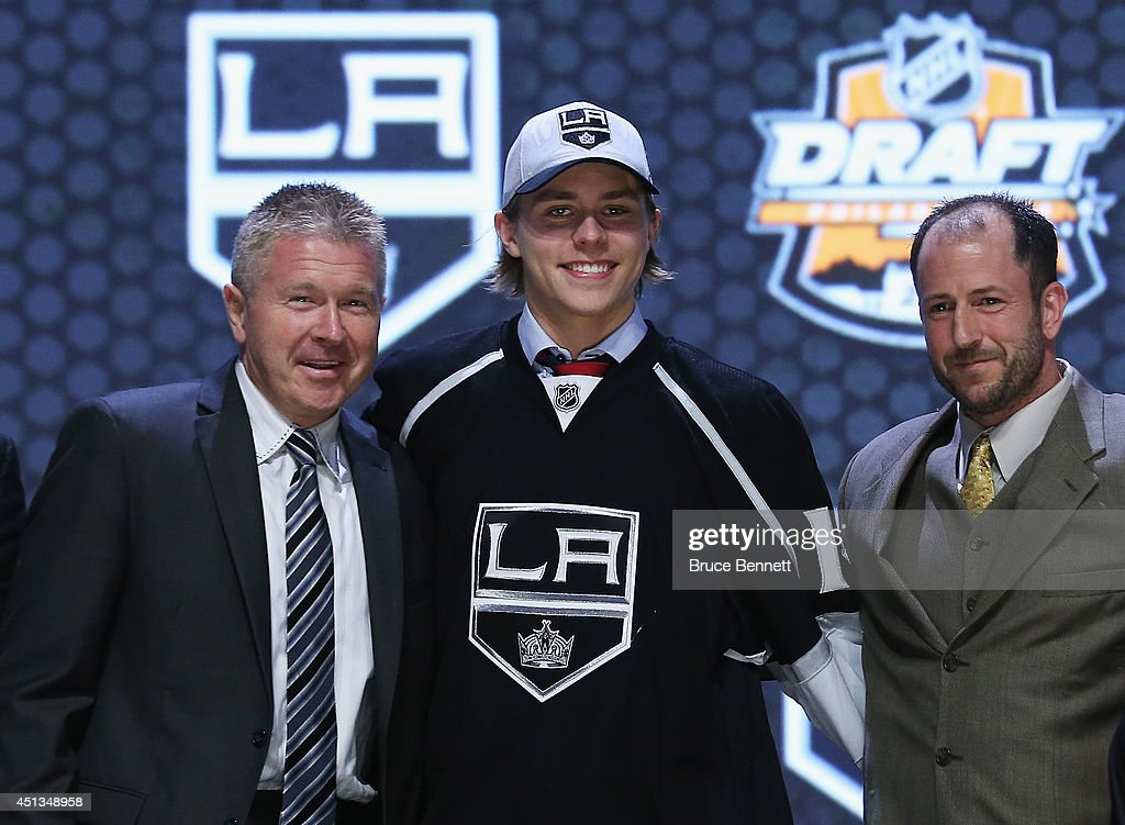 Adrian Kempe is selected twenty-ninth by the Los Angeles Kings in the first round of the 2014 NHL Draft at the Wells Fargo Center on June 27, 2014 in Philadelphia, Pennsylvania.