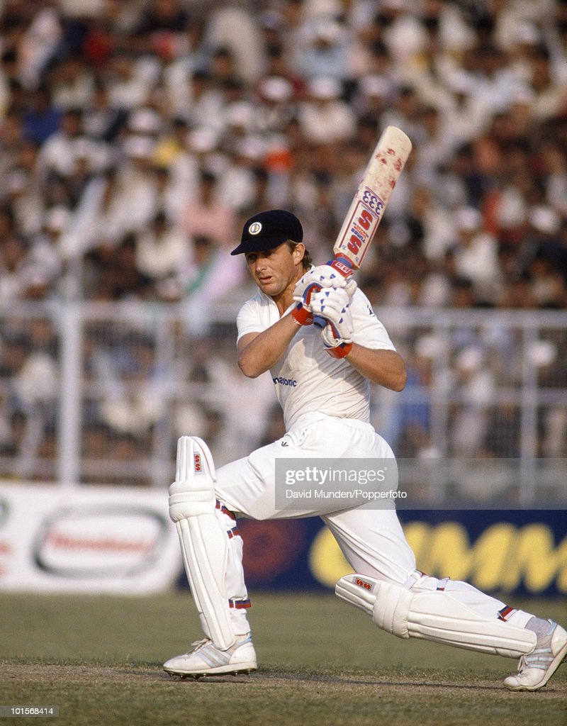 Adrian Kuiper batting for South Africa during the 2nd One Day International match between India and South Africa at the Captain Roop Singh Stadium in Gwalior, India, 12th November 1991. India won by 38 runs.
