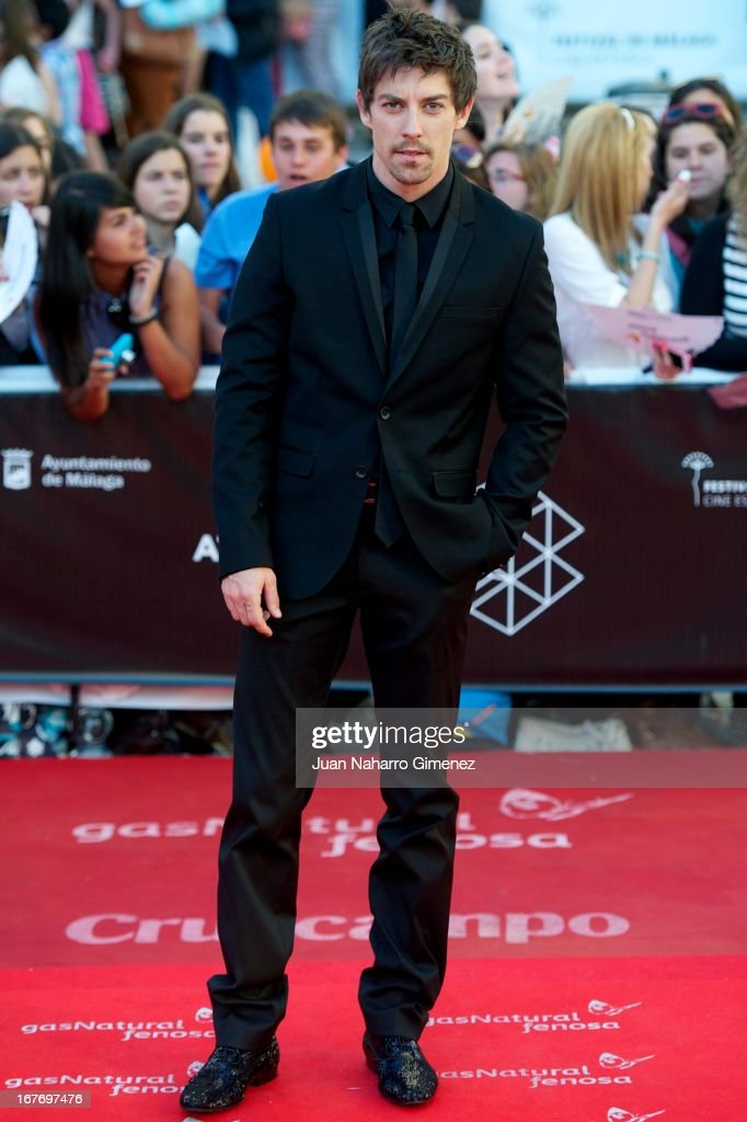 Adrian Lastra attends 16 Malaga Film Festival ceremony at Teatro Cervantes on April 27, 2013 in Malaga, Spain.