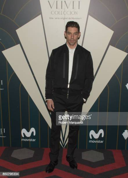 Adrian Lastra poses during a photocall for the premiere of 'Velvet' at the Sala Phenomena on September 20 2017 in Barcelona Spain