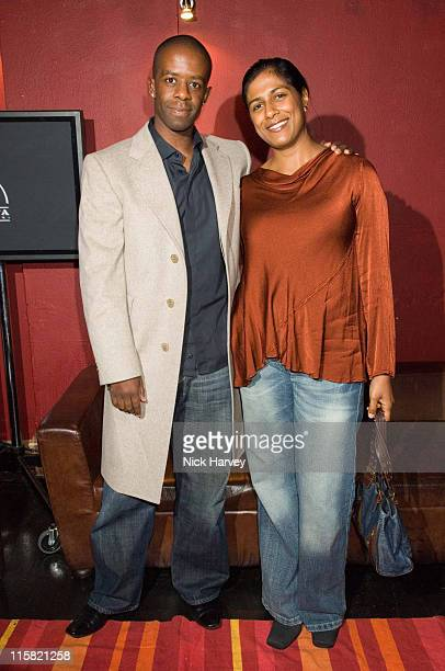Adrian Lester and his wife during The 9th Annual British Independent Film Awards at Hammersmith Palais in London Great Britain