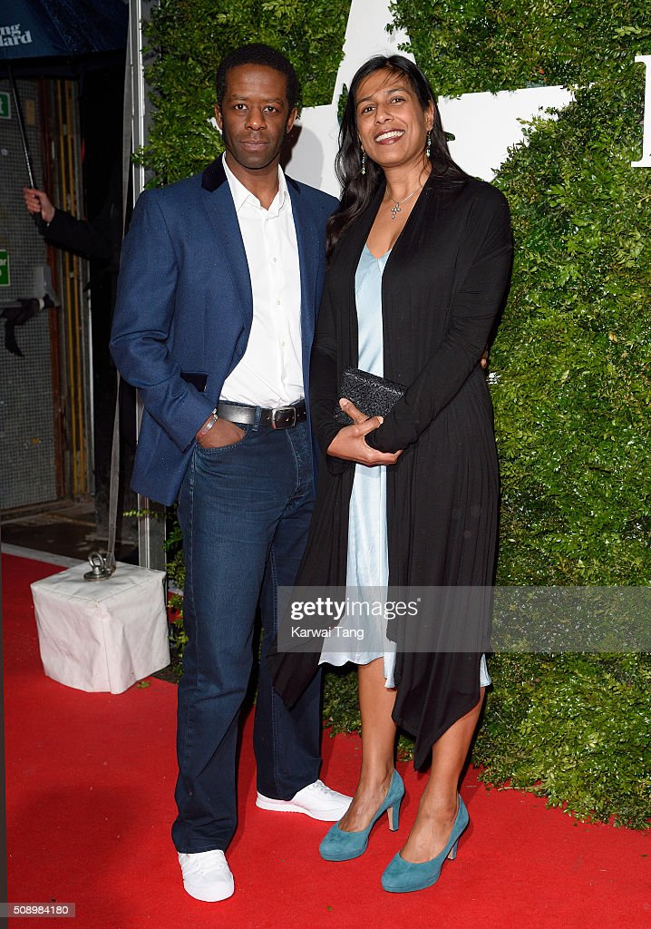 <a gi-track='captionPersonalityLinkClicked' href=/galleries/search?phrase=Adrian+Lester&family=editorial&specificpeople=215408 ng-click='$event.stopPropagation()'>Adrian Lester</a> and Lolita Chakrabarti attend the London Evening Standard British Film Awards at Television Centre on February 7, 2016 in London, England.