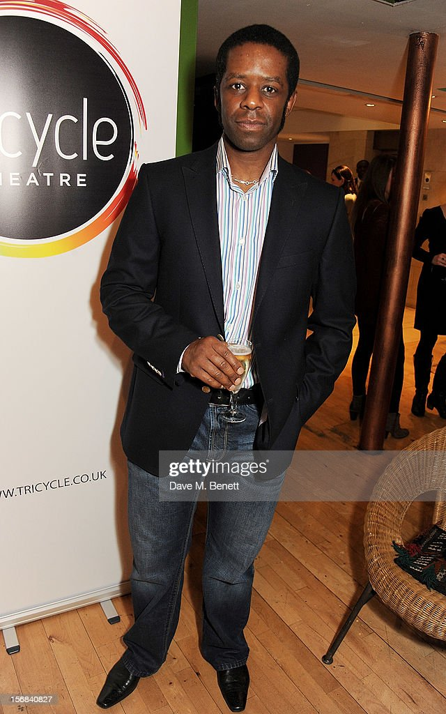 <a gi-track='captionPersonalityLinkClicked' href=/galleries/search?phrase=Adrian+Lester&family=editorial&specificpeople=215408 ng-click='$event.stopPropagation()'>Adrian Lester</a> attends Tricycle Theatre's 'Red Velvet: The Director's Party' on November 22, 2012 in London, England.