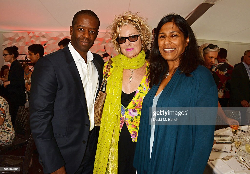 <a gi-track='captionPersonalityLinkClicked' href=/galleries/search?phrase=Adrian+Lester&family=editorial&specificpeople=215408 ng-click='$event.stopPropagation()'>Adrian Lester</a>, <a gi-track='captionPersonalityLinkClicked' href=/galleries/search?phrase=Fiona+Hawthorne&family=editorial&specificpeople=645816 ng-click='$event.stopPropagation()'>Fiona Hawthorne</a> and Lolita Chakrabarti attend day two of the Audi Polo Challenge at Coworth Park on May 29, 2016 in London, England.