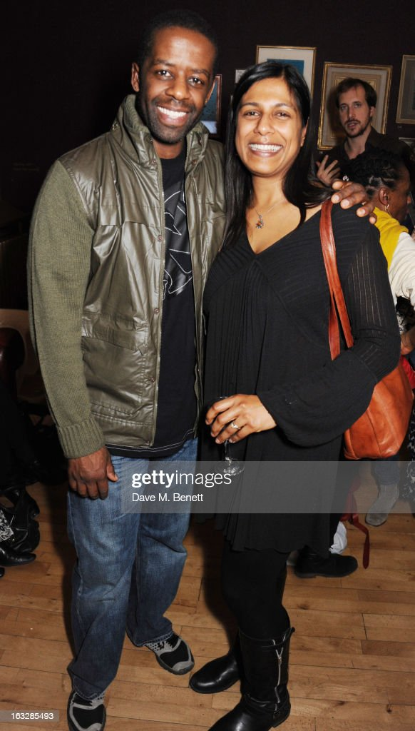 <a gi-track='captionPersonalityLinkClicked' href=/galleries/search?phrase=Adrian+Lester&family=editorial&specificpeople=215408 ng-click='$event.stopPropagation()'>Adrian Lester</a>, Lolita Chakrabarti attend an after party following the 'Paper Dolls' press night at Tricycle Theatre on March 6, 2013 in London, England.