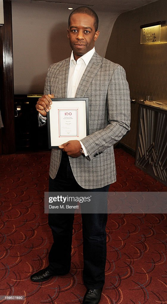 <a gi-track='captionPersonalityLinkClicked' href=/galleries/search?phrase=Adrian+Lester&family=editorial&specificpeople=215408 ng-click='$event.stopPropagation()'>Adrian Lester</a>, winner of Best Actor, attends the 2013 Critics' Circle Theatre Awards at the Prince Of Wales Theatre on January 15, 2013 in London, England.